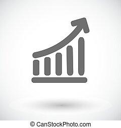 graph, singel, icon.