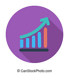 Graph single icon. - Graph. Single flat color icon. Vector...