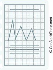 Graph sketch vector illustration.
