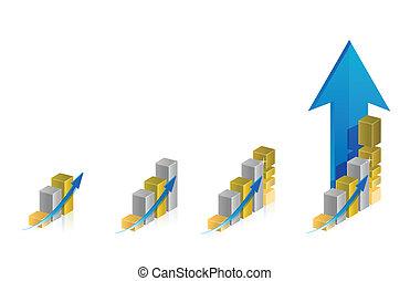 graph steps illustration design