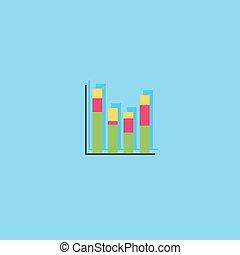 Graph symbol.