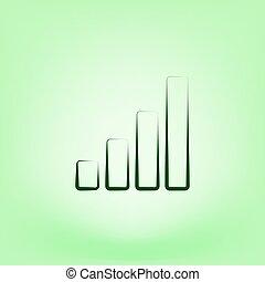 Graph vector icon