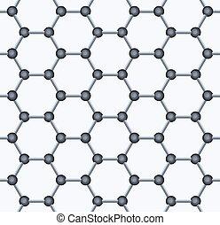 Graphene Seamless Pattern. Vector - Graphene Seamless...