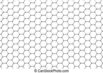 graphene, struttura atomica, nanotechnology, fondo., 3d, illustrazione