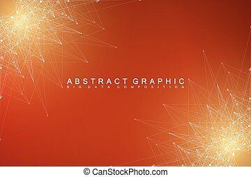 Graphic abstract background communication. Big data complex....