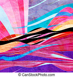 Graphic abstract light waves