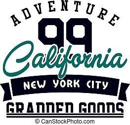 Graphic adventure california