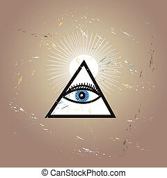 Graphic All-seeing eye