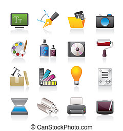 Graphic and website design icons - vector icon set