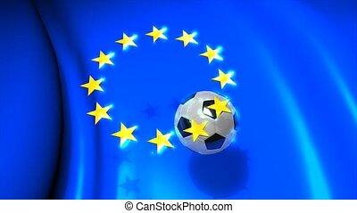 Europa football - Graphic animation, Europa football. alpha...