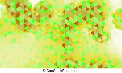 graphic animation - green triangles - graphic animation with...