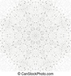 Graphic background molecule and communication. Connection line with dots. Geometric abstract composition for your design. Science vector illustration