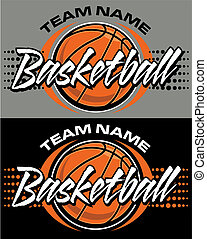 basketball design - graphic basketball design with ball