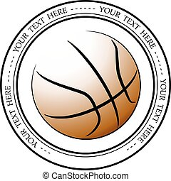 Graphic basketball logo. Vector isolated illustration of a basketball association or a sports event logo, sign, symbol.
