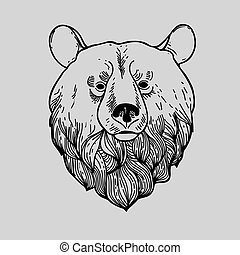Graphic Bear Head Logo