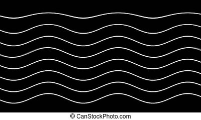 Graphic black background with flowing curved white lines....
