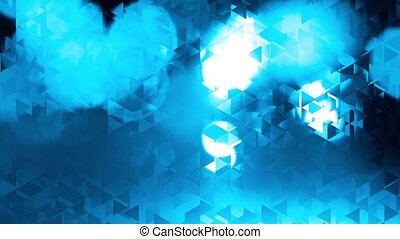 graphic blue animation - traingles