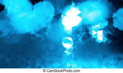 graphic blue animation - triangles