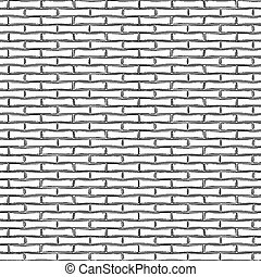 Graphic brick wall drawn in the engraving technique