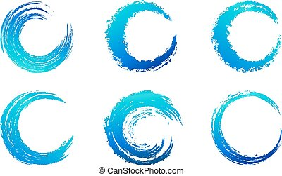 Graphic Brush Swirls - Circular Brush Stroke