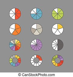 Graphic business ratings and charts. Flat infographic elements