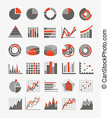Graphic business ratings and charts. infographic elements