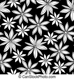 Graphic cardamom pattern