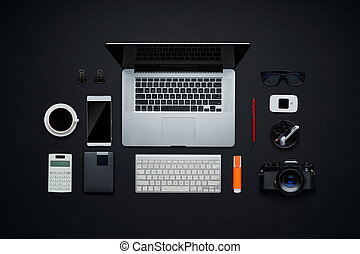 Graphic design and photographer workspace.