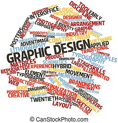 Graphic design - Abstract word cloud for Graphic design with...