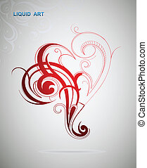 Graphic design element - Abstract graphic design element on...