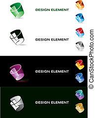Graphic design element. Color paper.