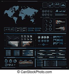 Graphic design element for infographic, world bar percentage vector illustration