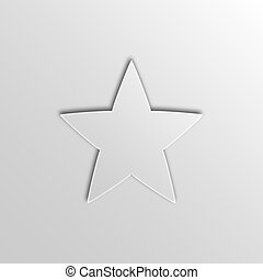 Five Pointed Big Star Pattern Simple Style