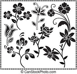 graphic design flowers