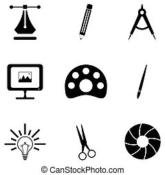 graphic design icon set