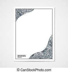 Graphic design letterhead with hand-drawn waves.