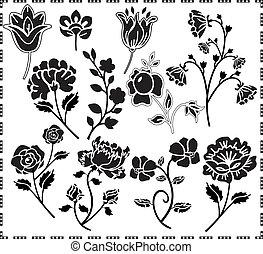 graphic design of flowers