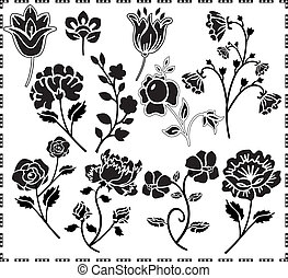 graphic design of flowers