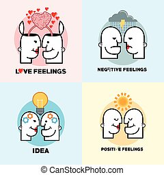 Graphic design of Mind and Thinking , vector illustration