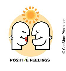 Graphic design of Positive Feeling , vector illustration