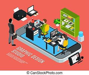 Graphic Design Studio Concept