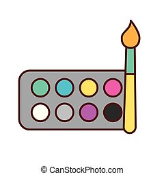 graphic design watercolor palette color brush