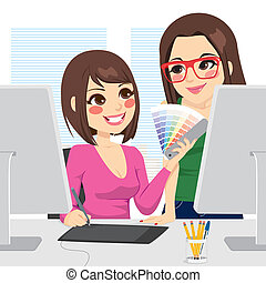 Graphic Designer And Assistant - Beautiful female graphic...