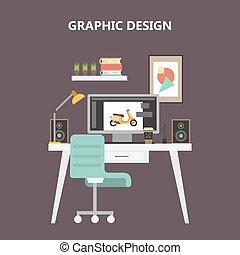 Graphic designer desktop.