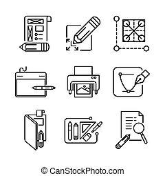 graphic designer icon set