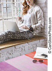 Graphic designer working in home