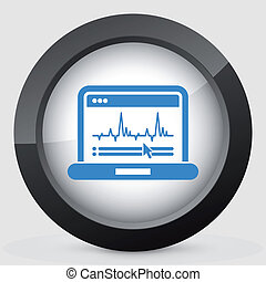 Graphic diagram computer icon