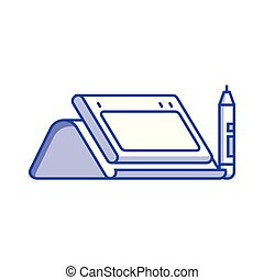 Graphic Drawing Tablet with Stylus Icon - Graphic drawing...
