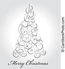 Graphic elegant Christmas tree
