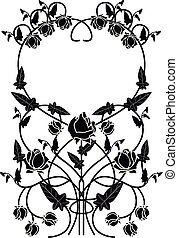 graphic element flowers and frame 2